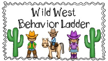 Western Theme Behavior Chart- Colored Background