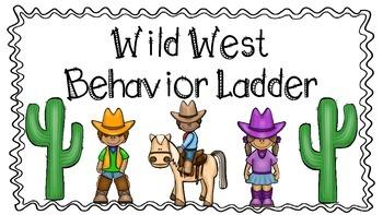 Western Theme Behavior Chart- White Background