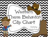 Western Theme Behavior Clip Chart