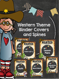 Western Theme Binder Covers and Spines Cowboy and Cowgirl Westen Binder Covers