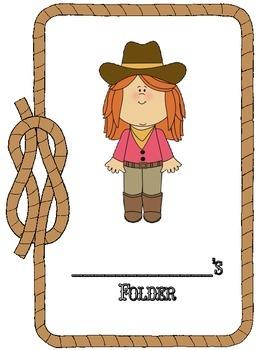 Western Theme Binder/Folder Covers