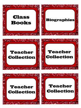 Western Theme Book Basket Labels