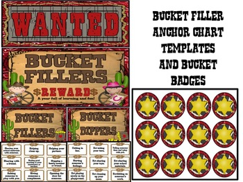 Western Theme Bucket Filler Pack! NON-EDITABLE VERSION