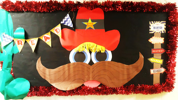 Western Theme Bulletin Board - Reading Response - Western Poster