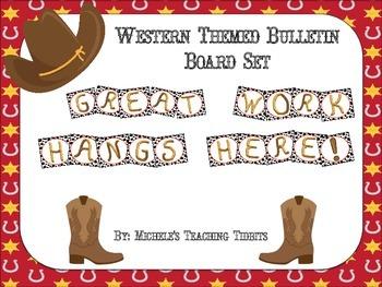 Bulletin Board Set: Western Themed Work Board