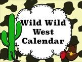 Western Theme Calendar