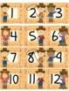 Western Theme Calendar Numbers