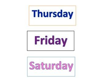 Calendar pieces