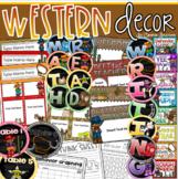 Western Theme Class Decor Bundle (Behavior Chart, Name Plates, Labels, Signs)