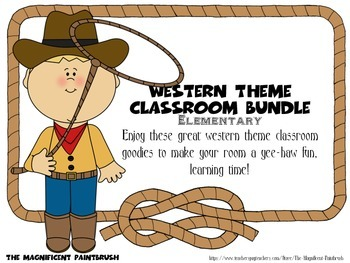 Western Theme Classroom Bundle