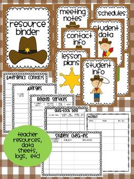 Western Theme Classroom {Decor, Classroom Management, & Resources}