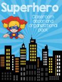 Superhero Theme Classroom Decor and Organization Pack - editable