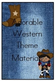 Western Theme Classroom Materials