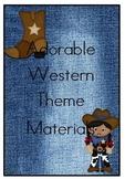 Western Theme Classroom Materials