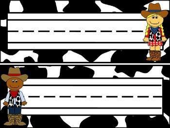 Western Theme - Cow Print - Mini Pack