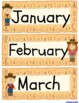 Western Theme Days of the Week, Months, & Years