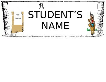 Western Theme Desk Name Tag