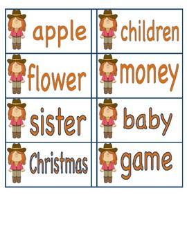 Western Theme Dolch Noun Word List