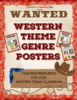 Western Theme Genre Posters Set