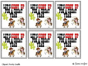 Western Theme Gift Tag {freebie}