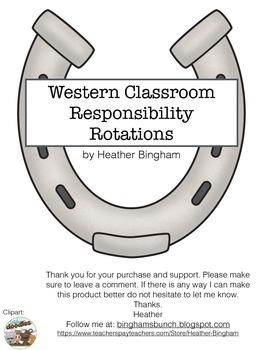Western Theme Job Rotations