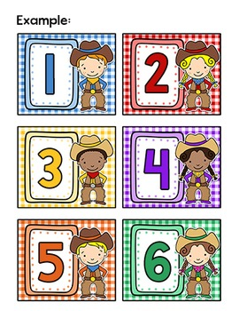Western Theme Labels - Cowboy and Cowgirl