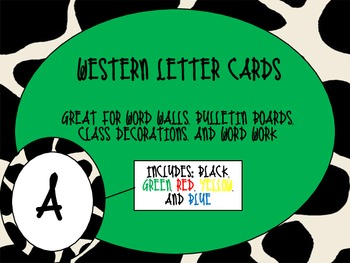 Western Theme Letter Cards