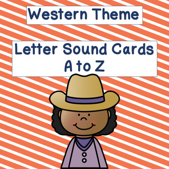 Western Theme Letter Sound Cards