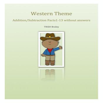 Western Theme Math Facts