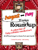 Western Theme Newsletter Template Big Bundle for August to May