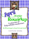 Western Theme Newsletter Template for April