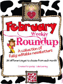 Western Theme Newsletter Template for February