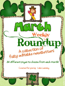 Western Theme Newsletter Template for March
