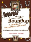 Western Theme Newsletter Template for November