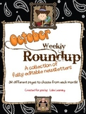 Western Theme Newsletter Template for October