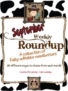 Western Theme Newsletter Template for September