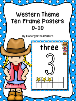 Western Theme Number Posters 0-10