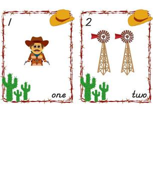 Western Theme Number Posters
