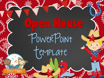 western theme open house back to school powerpoint template personalize it