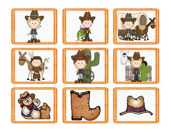 Western Theme Partner Cards
