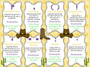 Punctuation Poster Western Theme