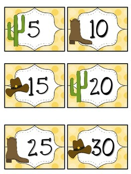 Reading Points by 5s Western Theme