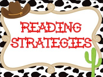 Reading Strategy Posters: Western Theme