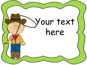 Western Theme Signs, Binder Covers, Labels and Nameplates {Editable}