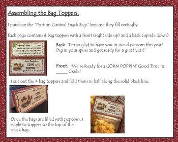 Western Theme Treat Bag Topper