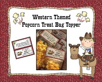 Western Theme Treat Bag Topper