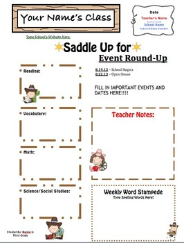 Western Theme Weekly Newsletter