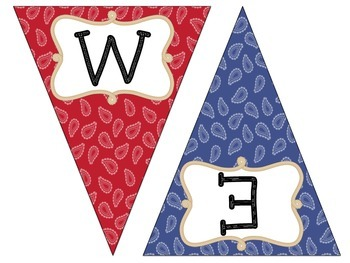Welcome Pennant: Western Theme