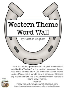 Western Theme Word Wall