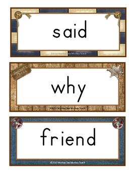 Western Theme Word Wall Words